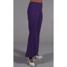 Déguisement pantalon hippie violet femme luxe
