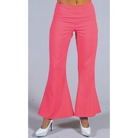 Déguisement pantalon hippie rose femme luxe