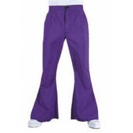 Déguisement pantalon hippie violet homme luxe