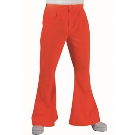 Déguisement pantalon hippie orange homme luxe