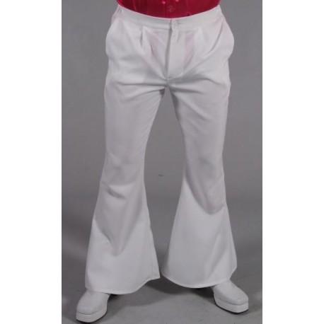 Déguisement pantalon hippie blanc homme luxe
