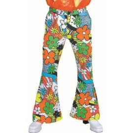 Déguisement pantalon hippie woodstock homme luxe