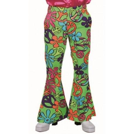 Déguisement pantalon hippie magic peace homme luxe