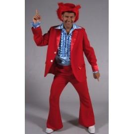 Déguisement disco rouge homme 70's luxe