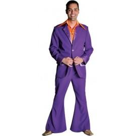 Déguisement disco violet homme 70's luxe