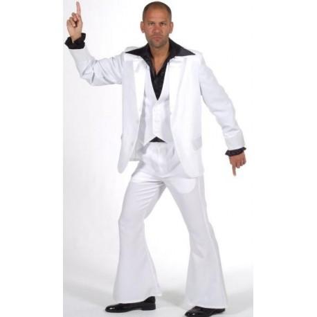 Déguisement disco blanc homme 70's luxe