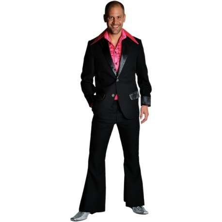 Déguisement disco noir homme 70's luxe