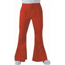 Déguisement pantalon hippie rouge homme luxe