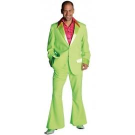 Déguisement disco fluo vert homme 70's luxe