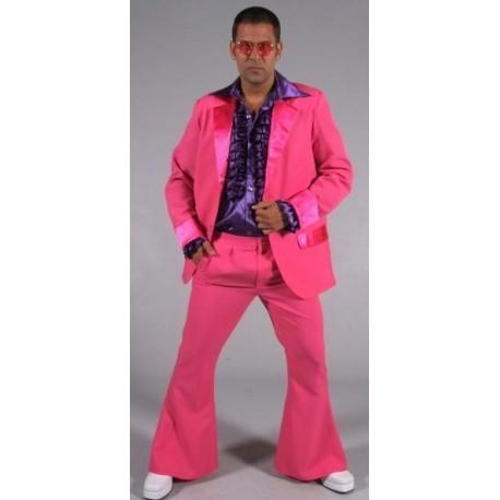 Déguisement disco rose fuchsia homme 70's luxe
