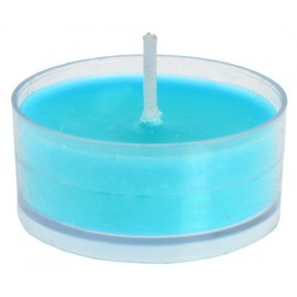 Bougies chauffe-plat turquoise rondes 3.5 cm les 40