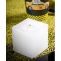 Bougies carrées blanches 5 cm les 5
