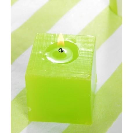 Bougie carrée vert anis 5 cm les 5