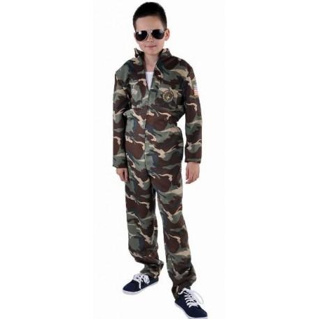 Déguisement pilote de chasse camouflage enfant luxe