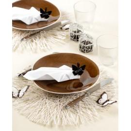 Set de table sinamay couleur rond 34 cm les 4