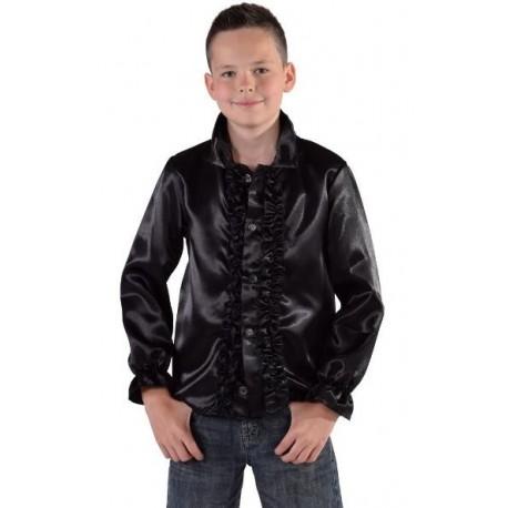 Déguisement chemise disco noire enfant