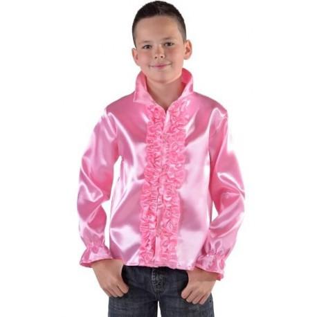 Déguisement chemise disco rose enfant