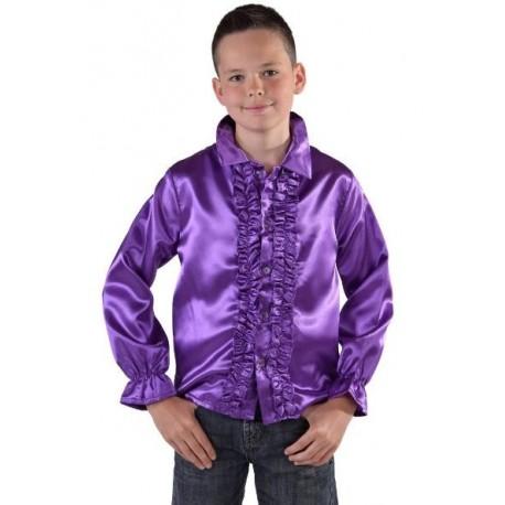 Déguisement chemise disco violette enfant