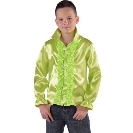Déguisement chemise disco vert anis enfant (fluo vert)