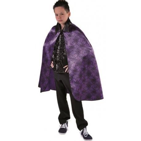 Déguisement cape araignée violette enfant satin deluxe