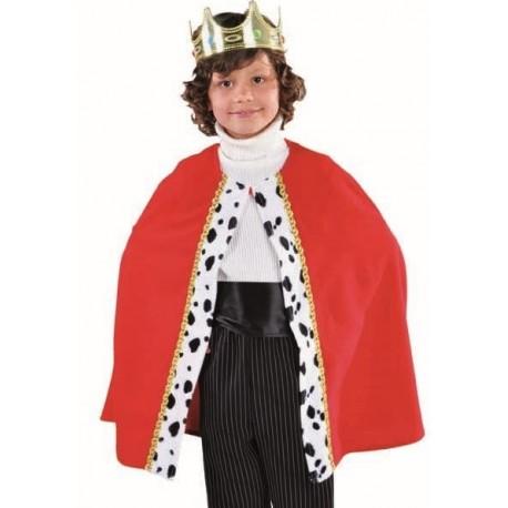 Déguisement cape de roi rouge enfant luxe