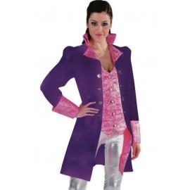 Déguisement marquise manteau violet rose femme luxe