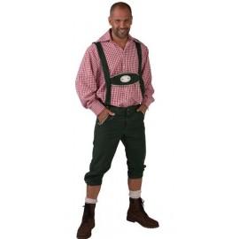 Déguisement pantalon tyrolien vert homme luxe