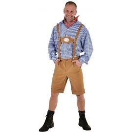 Déguisement pantalon tyrolien homme luxe