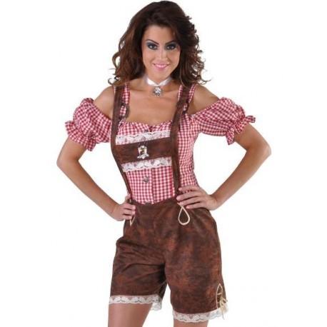 Déguisement pantalon tyrolienne Alm Hirsh femme luxe