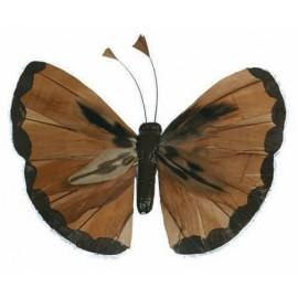 Papillons Couleur en Plumes Les 6 Sur Tige