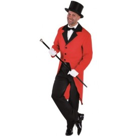 Déguisement queue de pie rouge homme luxe