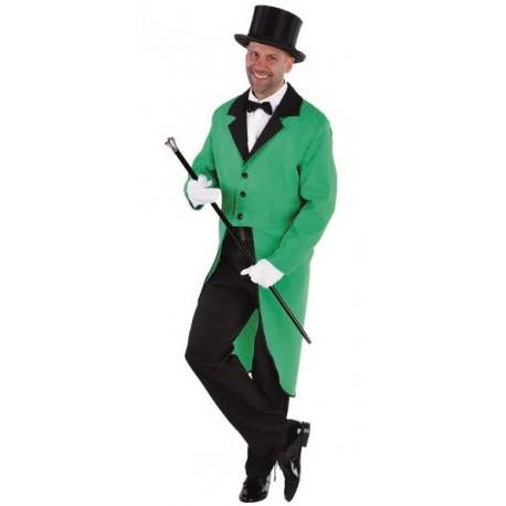 Déguisement queue de pie verte homme luxe