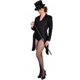 Déguisement queue de pie noire femme luxe