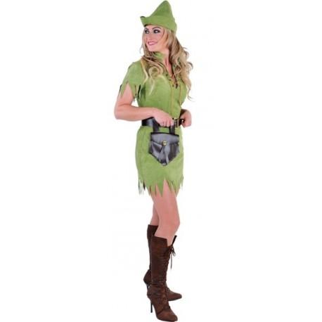 Déguisement robin des bois femme luxe vert
