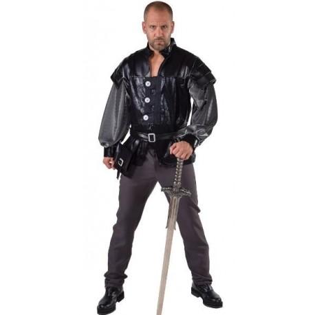 Déguisement chevalier Thrones homme luxe noir