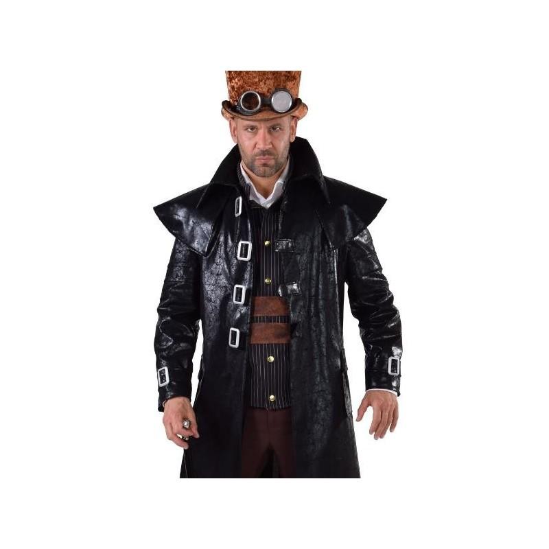 D guisement manteau steampunk homme luxe noir - Haut de forme pas cher ...