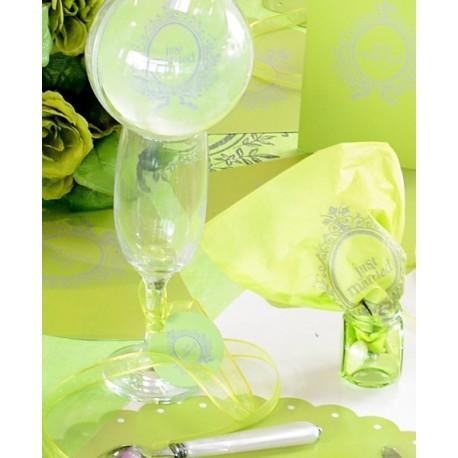 Serviette de table just married papier vert anis les 20