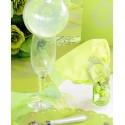 Serviettes de Table Just Married Vert Anis en Papier les 20