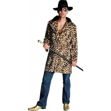 Déguisement manteau pimp léopard homme luxe