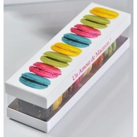 Boîte macarons couleur en carton pour 8 macarons les 10
