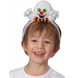Serre-tête fantôme blanc enfant avec yeux clignotants
