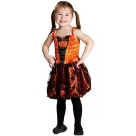 Déguisement citrouille fille Halloween little pumpkin