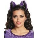 Serre tête chauve-souris oreilles de chauve-souris violet noir