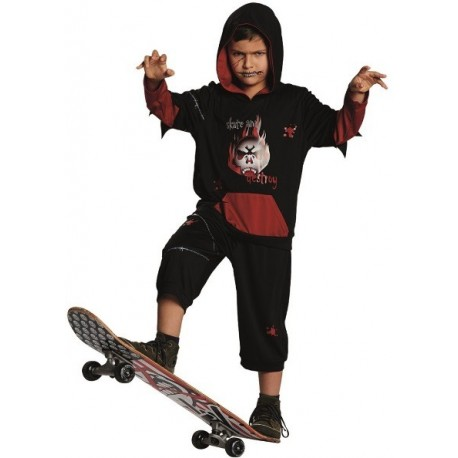 d guisement zombie skater gar on halloween. Black Bedroom Furniture Sets. Home Design Ideas