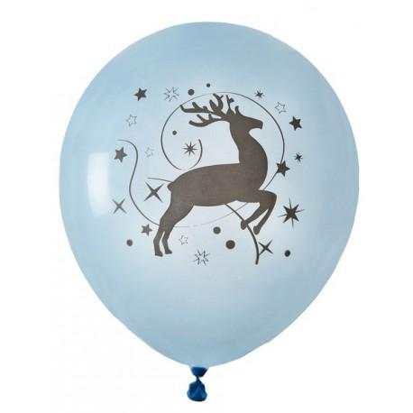 Ballons Renne de Noël bleu ciel 23 m les 8