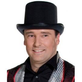Chapeau haut de forme velours noir adulte