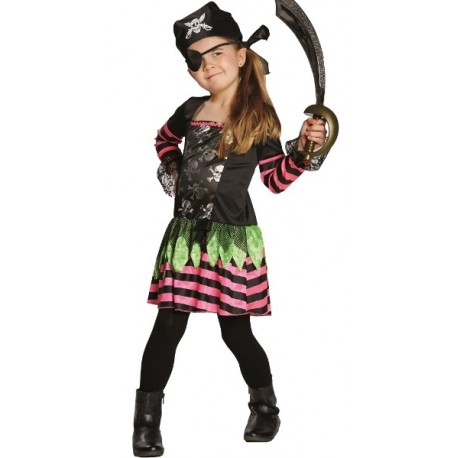 Déguisement pirate punky fille