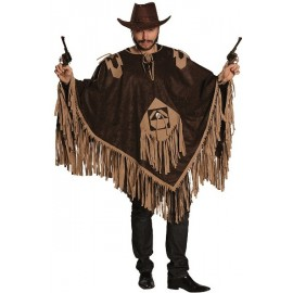Déguisement poncho cowboy adulte luxe