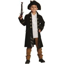 Déguisement manteau pirate brun garçon