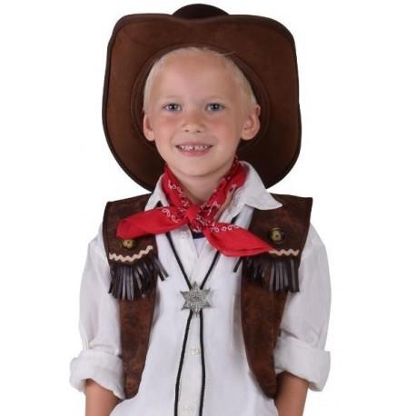 Déguisement cowboy gilet garçon luxe